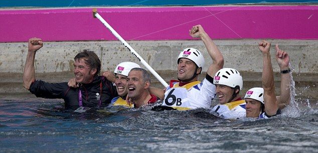 GB took the gold and the silver medals in the men's double canoeing