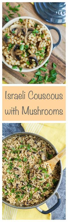 Israeli Couscous with Mushrooms #couscous #mushroom #mushrooms…