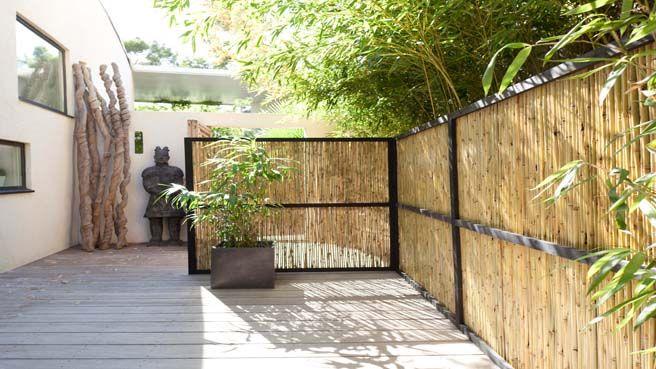 Les 25 meilleures id es concernant brise vue vegetale sur pinterest brise v - Cache vis a vis terrasse ...