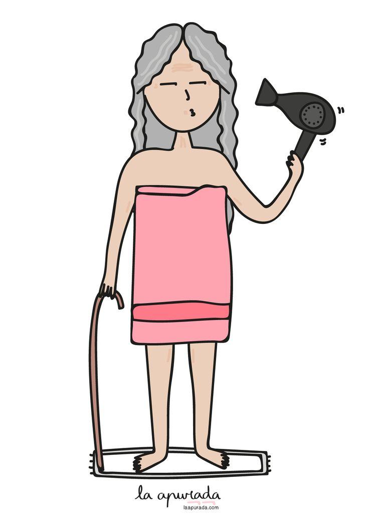 Esa sensación de ver la vida pasar cuando en invierno tienes que secarte el pelo.