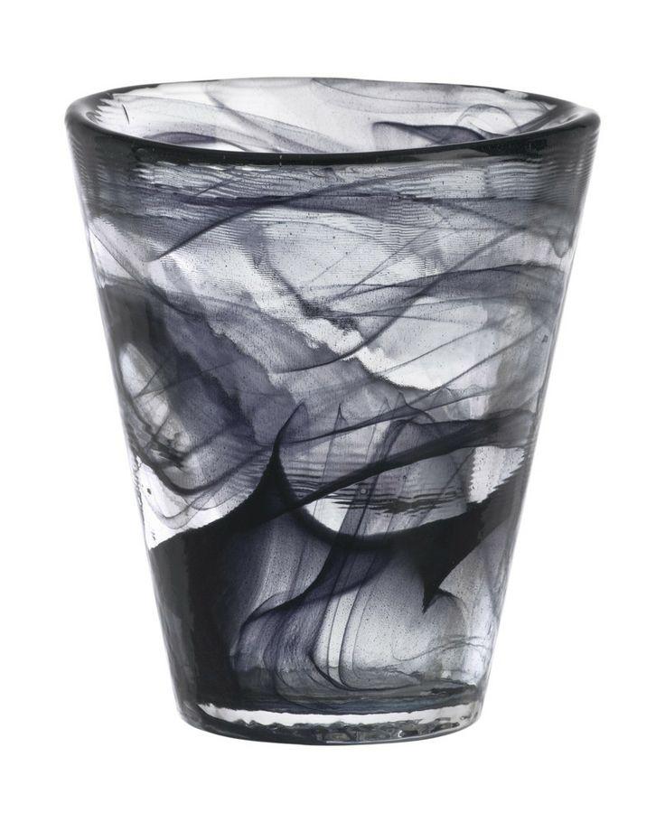 Mine tumbler black, design by Ulrica Hydman Vallien for Kosta Boda