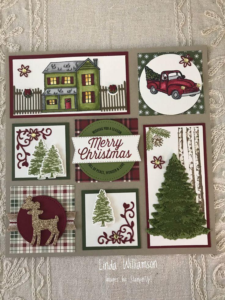 Weihnachtskarten Gestaltet Mit Stempelsets Farmhouse Christmas