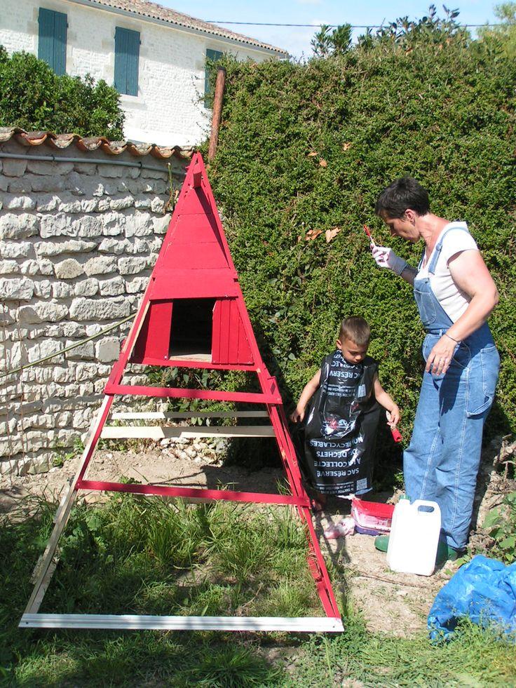 atelier peinture de la cocorette avec mon petit fils