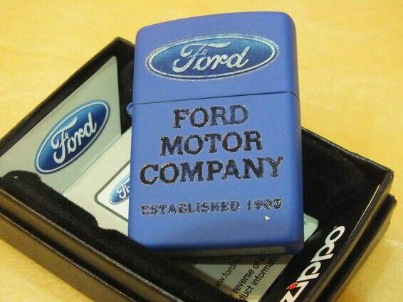 Zippo Ford Logo Royal Blue Matte