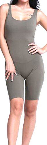 Papijam Papijam Womens Jumpsuit Knee Length Sport Bodysuit Leotards Outfits