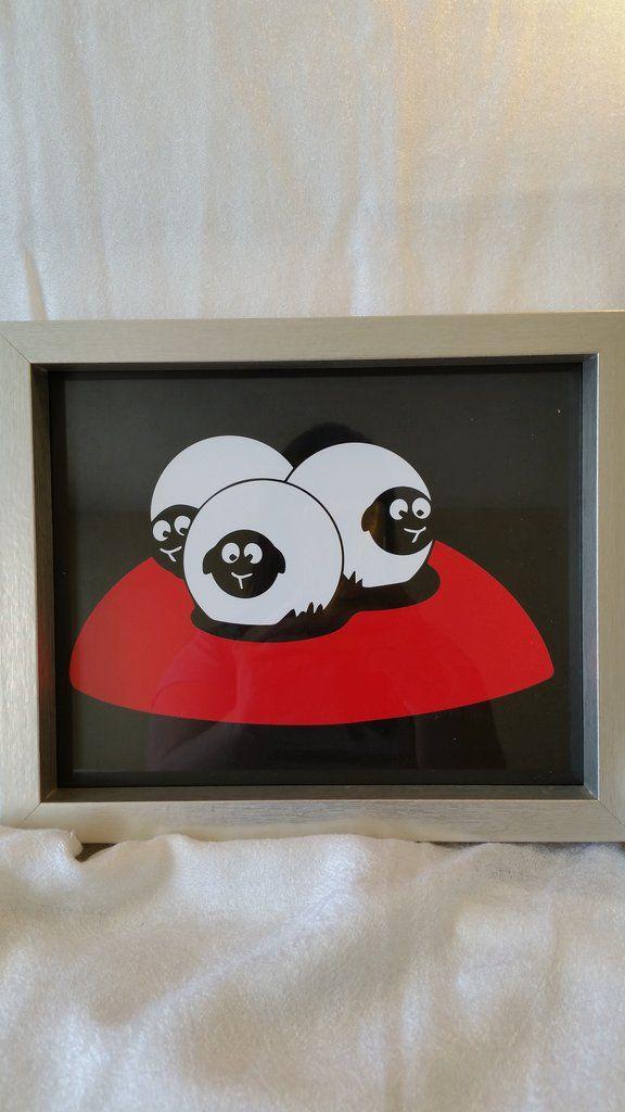 High Contrast Baby Art| Nursery Decor| Infant Visual Stimulation| Sheep2