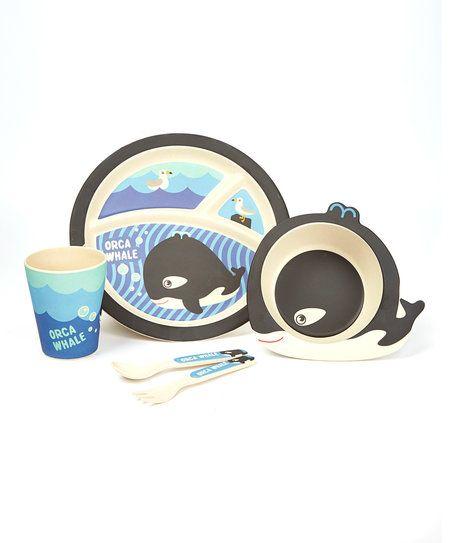 Bamboo Studio Orca Whale Five-Piece Dinnerware Set   zulily