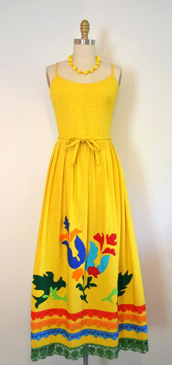 lemon yellow maxidress