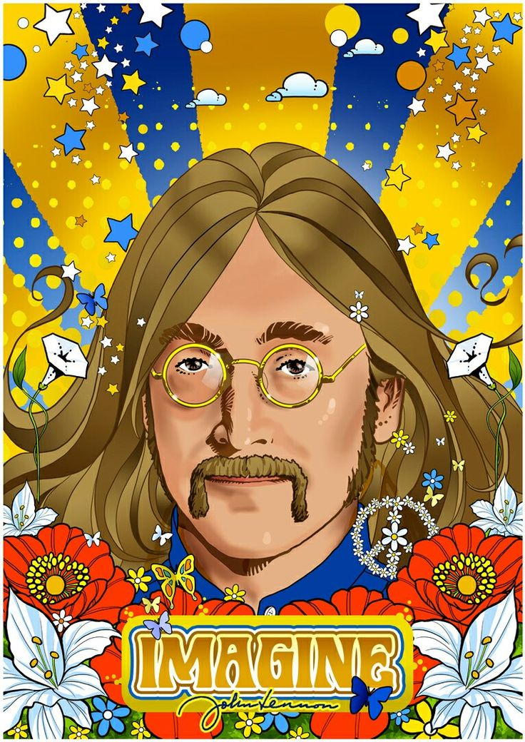 John Lennon. Als Poster erhältlich auf meiner Webseite: goo.gl/jvgwQl