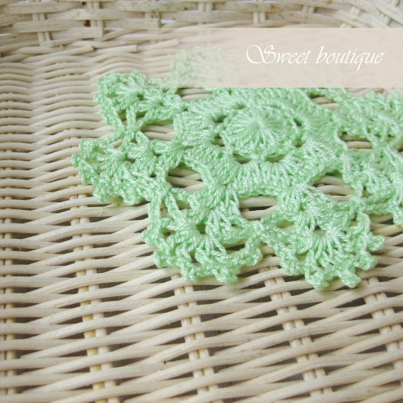 Set of 6 Vintage Crochet coasters/doily/mini by MSweetboutique, $18.00
