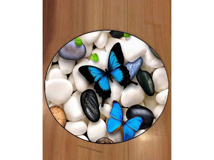 BIGA kulatý butterfly koberec