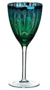 Gorgeous peacock goblet