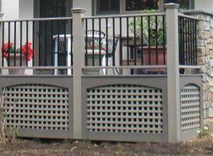 deck underpinning ideas | Deck skirting