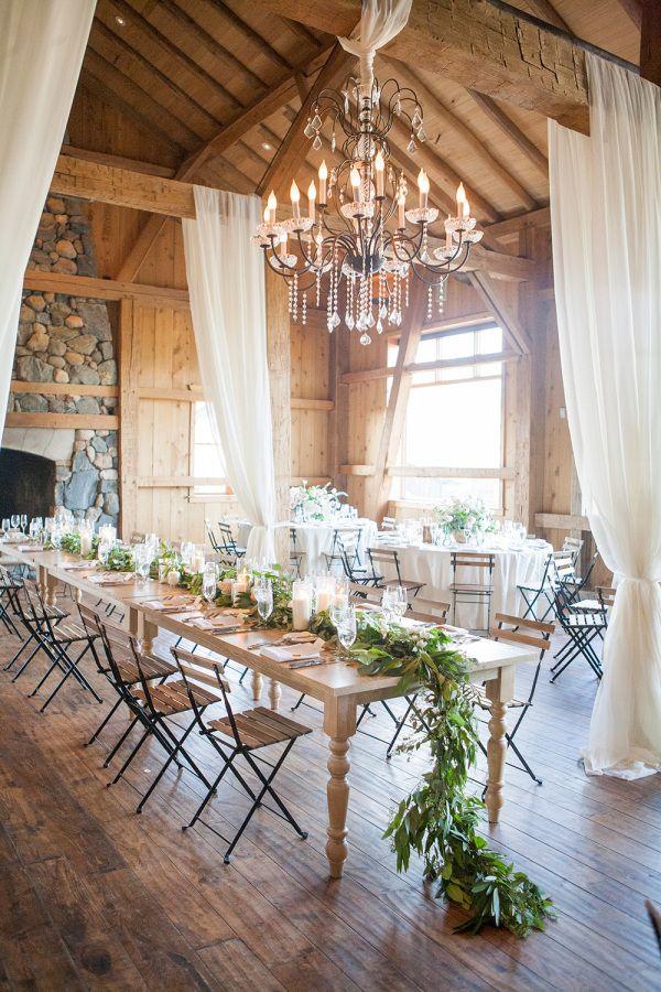 Rustic barn wedding tablescape: http://www.stylemepretty.com/2016/03/30/elegant-destination-outdoor-mountain-wedding/ | Photography: Lane Dittoe - http://lanedittoe.com/