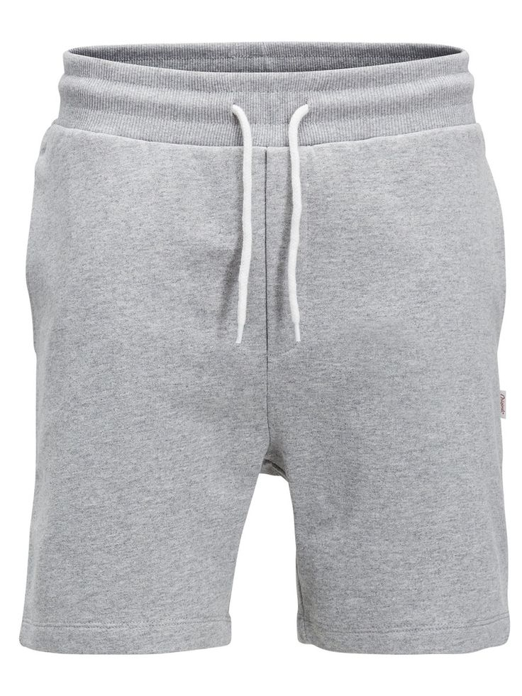 Spring calls for comfort and shorts. Light grey sweat shorts to lounge on the sofa, go to the gym or hit the town   JACK & JONES