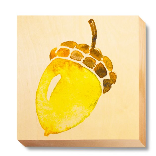 CHI 045 Children's Art - Watercolour Acorn