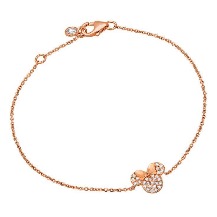 Minnie Mouse Icon Bracelet by CRISLU - Rose Gold