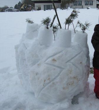 Schneeburg bauen, Alternative zum Schneemann