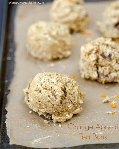 Orange Apricot Tea Buns by Plant-Powered Kitchen