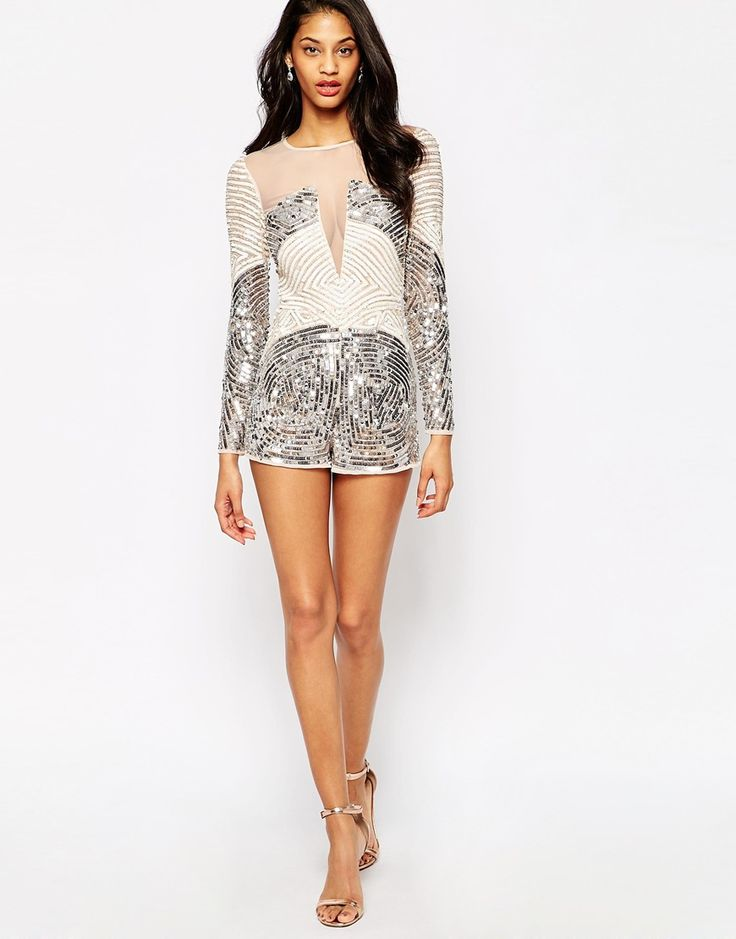 Sequin romper for new years
