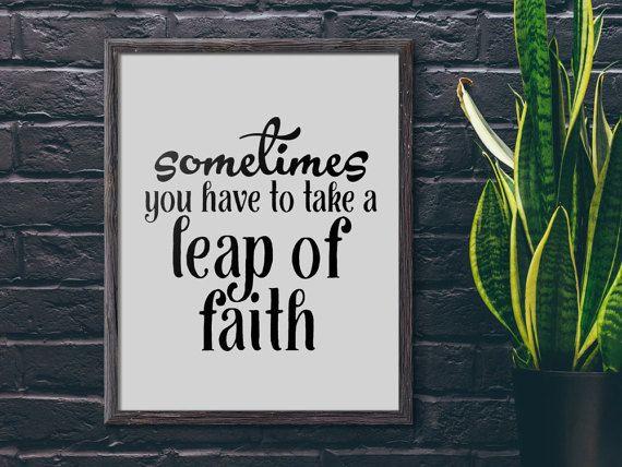 17 Best Ideas About Leap Of Faith On Pinterest