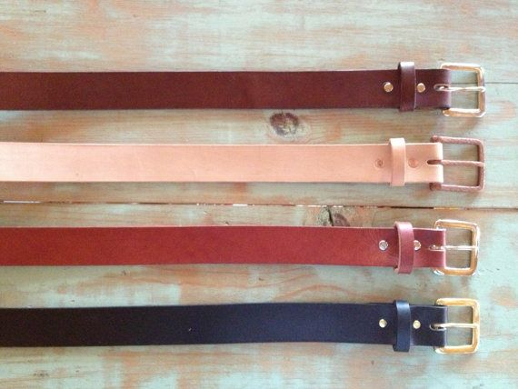 "1.5"" $50Custom Leather Belt /  Handmade by OfMudandCoal on Etsy"
