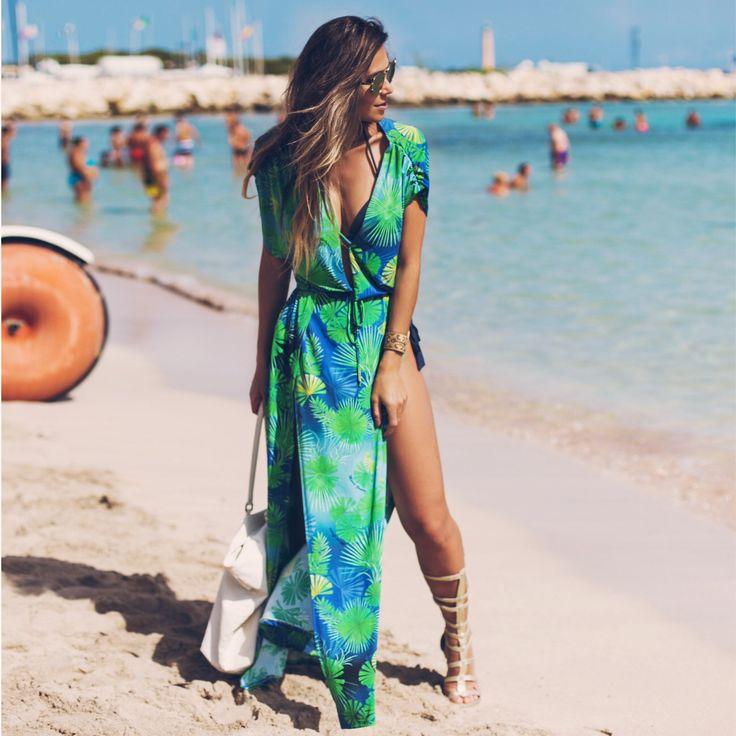 kaftan / saída de praia - looks para usar na praia - verão 2016