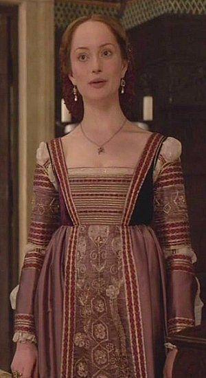 Lotte Verbeek as Giulia Farnese | The Borgias | Series Costume Design by Gabriella Pescucci
