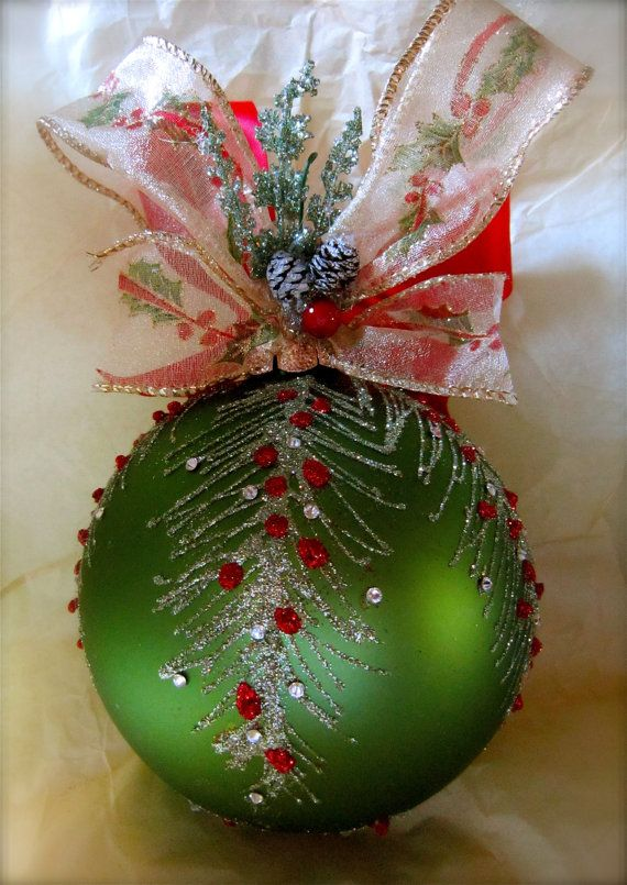 Holiday Glass Ornament by KARCREATIONS on Etsy, $38.00
