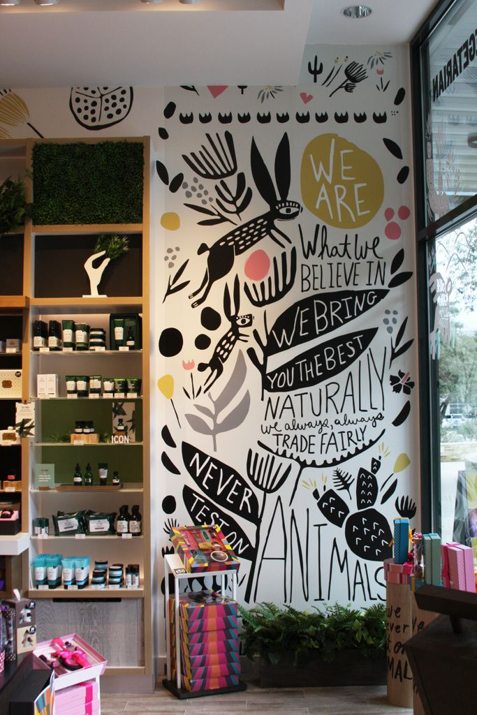 Leah Duncan Wall Murals The Body Shop Wall Murals Painted Wall Painting Mural Art