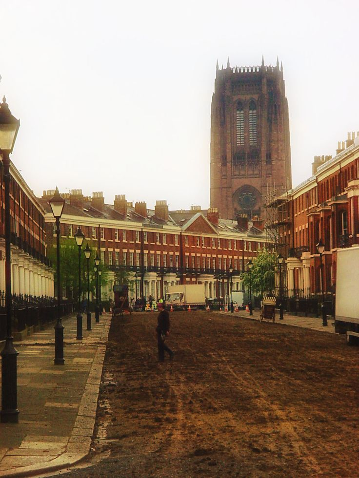 Canning Street, Liverpool as a Victorian film setting