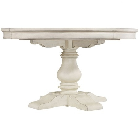 I pinned this Hooker Furniture Harbour Pointe Dining Table from the Cottage Chic event at Joss and Main! Add a touch of cottage-chic charm to your kitchen or dining room with this beautiful table from Hooker Furniture. A traditionally carved pedestal post supports a round ample surface, finished in weathered white and artfully accented with scalloped detail.: Beautiful Tables, Decor Ideas, Cottage Chic, Cottages Chic, Cottage Ch Charms, Carvings Pedestal, Chic Events, Decor Furniture Ideas, Street Cottages