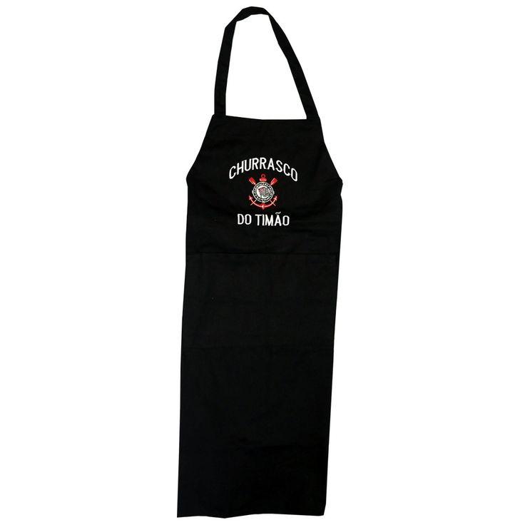 avental de churrasqueiro corinthians oficial churrasco preto