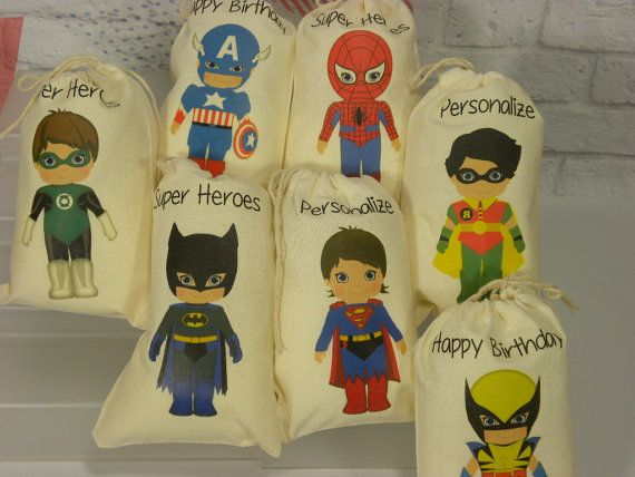 Hey, I found this really awesome Etsy listing at http://www.etsy.com/listing/123113934/muslin-cotton-bags-boys-super-hero-favor