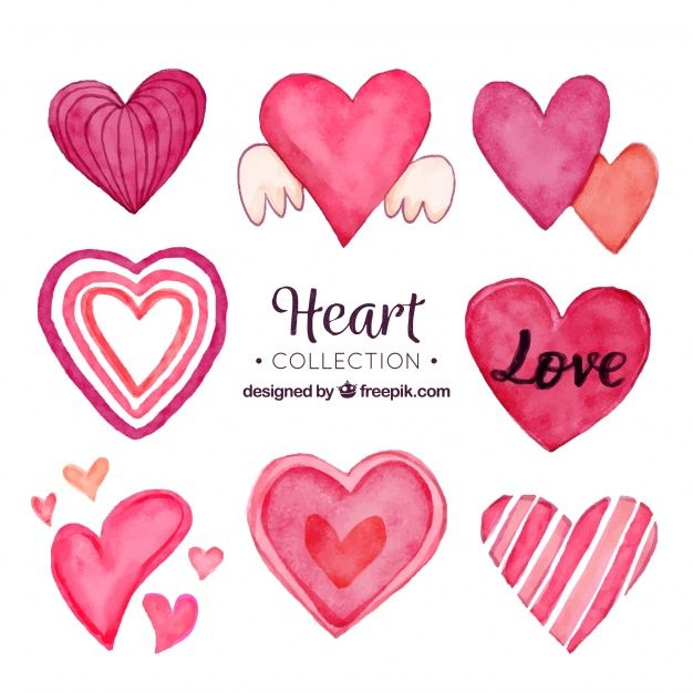 Download Watercolor Hearts Collection For Free Watercolor Heart