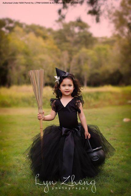 fantasia bruxa infantil preta com saia tule
