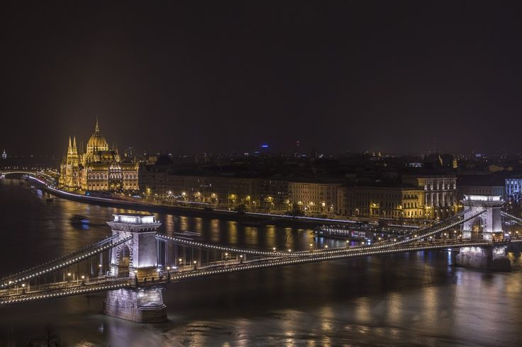 Night shot of the Parliament and the Chain Bridge - Budapest