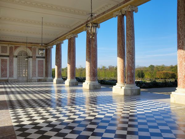 Le Grand Trianon - Le péristyle