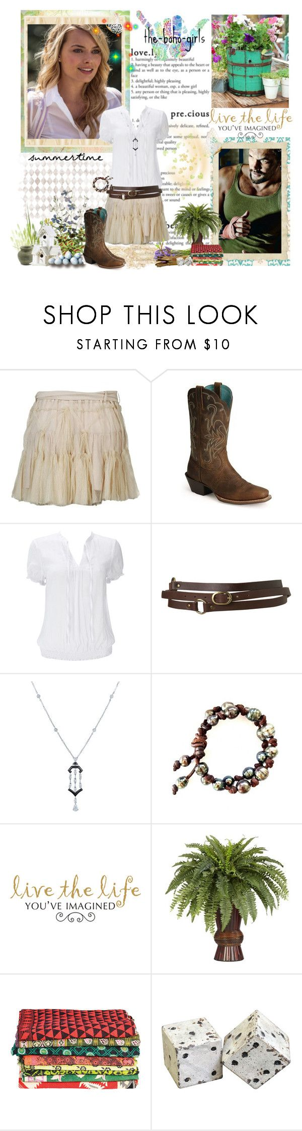"""#281"" by ninhayaritza ❤ liked on Polyvore featuring Anne Valérie Hash, Ariat, Wallis, Topshop, Kwiat, WALL, Nearly Natural and HAY"