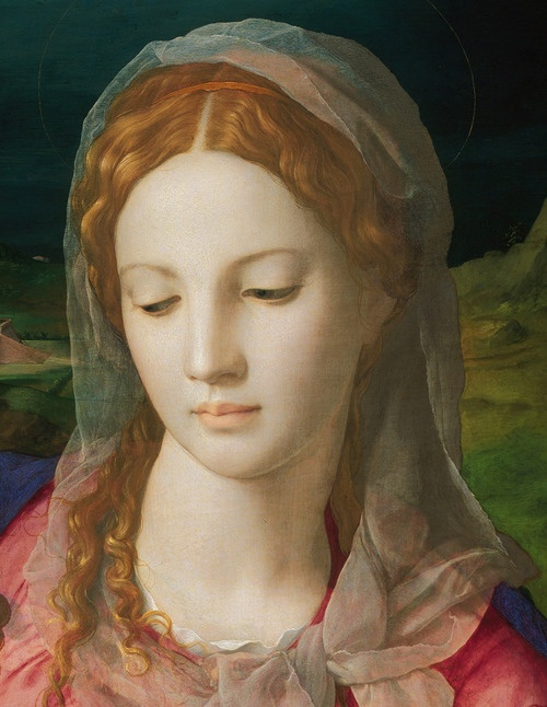 Holy Family with St. Anne and the Infant St. John - Agnolo Bronzino. detail.