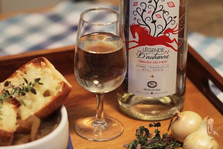 Accompagnez votre #soupe à l'oignon gratinée d'un bon #cidre fort tel Les Vergers Lafrance Légende d'Automne! #OrigineQuebec