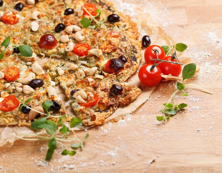 Gluteeniton feta-pestopizza