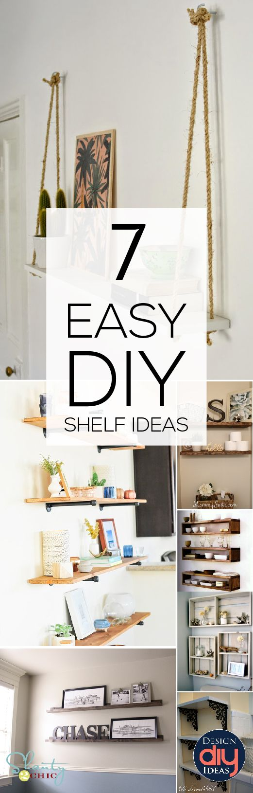 Need some new shelves? Check out these 7 Easy DIY shelf ideas!