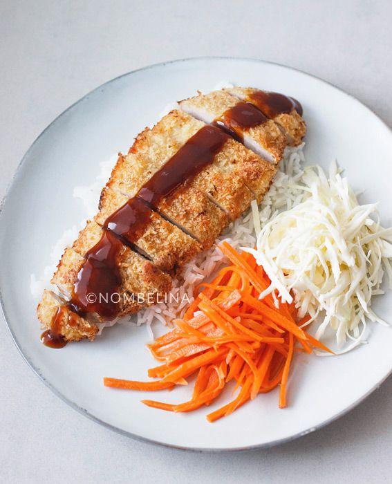Tonkatsu, Japanse schnitzel met 2 soorten salade en rijst. Een Aziatisch alternatief op de doordeweekse aardappel, vlees en groente.