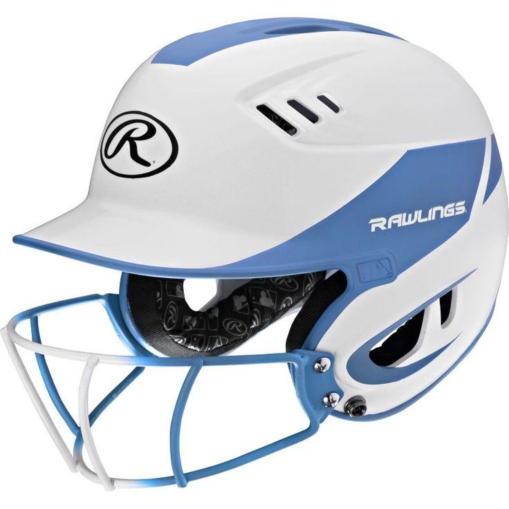 Rawlings Senior Velo R16 Fastpitch Helmet w/ Mask, Blue