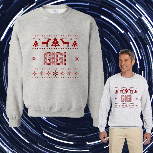 1-800 HOTLINE BLING Ugly GIGI Christmas Unisex Adult sweater Crewneck Sweatshirt
