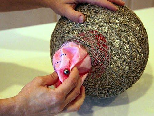 Φτιάξτε μόνοι σας ένα φωτιστικό απο σπάγκο! | Φτιάξτο μόνος σου - Κατασκευές DIY - Do it yourself