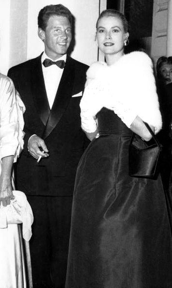 Jean Pierre Aumont & Grace Kelly, 1955