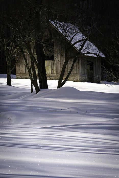 Winter Barn by Rob Travis - Winter Barn Photograph - Winter Barn Fine Art Prints and Posters for Sale