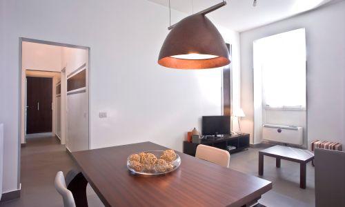 Appartamento Marrone - soggiorno  #Roma #Termini